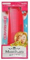 VESS «Moist Herb Brush» Расчёска для увлажнения и придания блеска волосам, с маслом розы (складная).