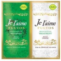 """Kose Cosmeport """"Je l'aime - Fulvos"""" Шампунь и тритмент для всех типов волос """"Сияние и гладкость"""", травяной аромат, 10 мл + 10 мл."""