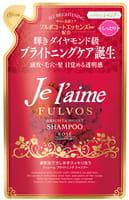 KOSE Cosmeport «Je l'aime - Fulvos» Шампунь для всех типов волос «Сияние и увлажнение», цветочно-фруктовый аромат, запасной блок, 400 мл.