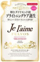 KOSE Cosmeport «Je l'aime - Fulvos» Тритмент для всех типов волос «Сияние и увлажнение», цветочно-фруктовый аромат, запасной блок, 400 мл.