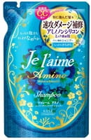 KOSE Cosmeport «Je l'aime - Amino» Шампунь с аминокислотами для повреждённых волос «Гладкость и увлажнение», фруктово-цветочный аромат, запасной блок, 400 мл.