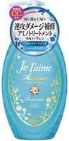 KOSE Cosmeport «Je l'aime - Amino» Тритмент с аминокислотами для повреждённых волос «Гладкость и увлажнение», фруктово-цветочный аромат, 500 мл.