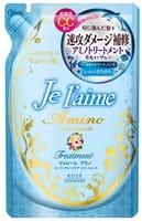 KOSE Cosmeport «Je l'aime - Amino» Тритмент с аминокислотами для повреждённых волос «Гладкость и увлажнение», фруктово-цветочный аромат, запасной блок, 400 мл.
