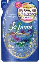 KOSE Cosmeport «Je l'aime - Amino» Шампунь с аминокислотами для повреждённых волос «Экстраувлажнение», фруктово-цветочный аромат, запасной блок, 400 мл.