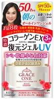 """Kose Cosmeport """"Grace One"""" Гель для лица с коллагеном """"Восстановление и увлажнение"""" после 50 лет, UV SPF50+, 100 г."""