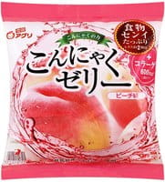 YUKIGUNI Десерт желе конняку, с соком персика, порционное, 6 пакетиков.