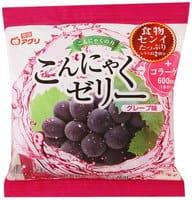 YUKIGUNI Десерт желе конняку, с соком винограда, порционное, 6 пакетиков.