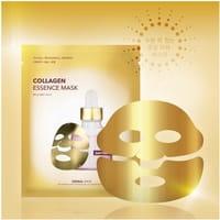 Dermal Shop Фольгированная коллагеновая маска для лица, с аденозином и пептидами (золотая), 1 шт.