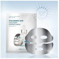 Dermal Shop Фольгированная коллагеновая маска для лица, с гиалуроновой кислотой и пептидами (серебряная), 1 шт.
