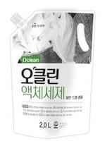 """Mukunghwa """"O'clean Liquid Laundry Detergent"""" Жидкое средство для бережной стирки, на основе плодов мыльного дерева и соды, с антибактериальным эффектом, сменная упаковка, 2 л."""