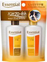 KAO «Essential» Шампунь и кондиционер для повреждённых волос с восстанавливающим и увлажняющим эффектом, 2х45 мл.