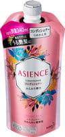KAO «Asience» Кондиционер для увеличения упругости волос, с экстрактом женьшеня и протеинами шелка, цветочно-фруктовый аромат, запасной блок, 340 мл.