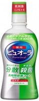 KAO «Pure Oral» Антибактериальный ополаскиватель для полости рта, для профилактики кариеса и гингивита, мята (без спирта), 420 мл.