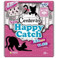 Unicharm «Center-in Happy Catch - Normal» Гигиенические прокладки для девочек-подростков, 21 см, с крылышками, 28 шт.