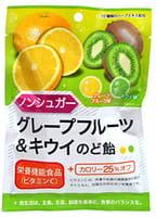 Senjaku Леденцы без сахара, вкус грейпфрута и киви, 43 г.