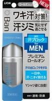 LION Мужской премиальный роликовый ионный дезодорант-антиперспирант, блокирующий потоотделение, аромат мыла, 40 мл.