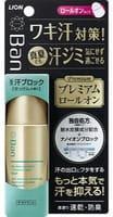 LION «Ban sweat Premium label» Премиальный роликовый ионный дезодорант-антиперспирант, блокирующий потоотделение, аромат мыла, 40 мл.