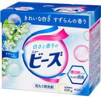 KAO «New Beads» Стиральный порошок с кондиционирующим эффектом с ароматом майского ландыша, для белых, цветных и слабоокрашенных тканей! 850 гр.