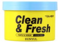 """Eunyul """"Clean & Fresh Pimple & Sebum Clear Pad"""" Очищающие диски с кислотами, 70 шт."""