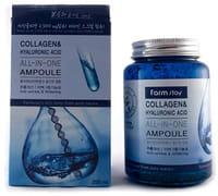 """FarmStay """"Collagen&Hyaluronic Acid all-in-one Ampoule"""" Многофункциональная ампульная сыворотка с гиалуроновой кислотой и коллагеном, 250 мл."""