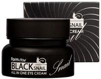 "FarmStay ""Black snail all-in one Eye Cream"" Крем для кожи вокруг глаз, с муцином чёрной улитки, 50 мл."