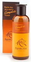 """FarmStay """"Jeju Mayu Complete Toner"""" Тонер с лошадиным маслом для сухой кожи, 200 мл."""
