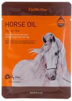 "FarmStay ""Visible Difference Mask Sheet Horse Oil"" Тканевая маска с лошадиным маслом для сухой кожи, 1 шт."