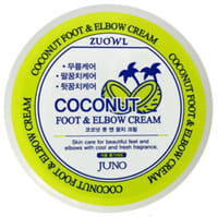Juno Cosmetics «Zuowl Foot&Elbow Cream Coconut» Крем для ног и локтей, с кокосом, 100 мл.