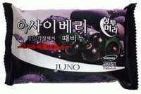 Juno Cosmetics «Sangtumeori Peeling Soap Acai Berry» Мыло с отшелушивающим эффектом, с экстрактом асаи, 150 г.