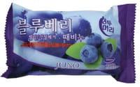 """Juno Cosmetics """"Sangtumeori Peeling Soap Blueberry"""" Мыло с отшелушивающим эффектом, с экстрактом черники, 150 г."""