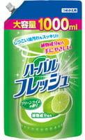 Mitsuei Средство для мытья посуды, овощей и фруктов с ароматом лайма, 1000 мл.