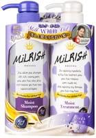 MILRISH «Rich Oil» Шампунь и кондиционер с натуральными маслами «Увлажнение и восстановление», 2х500 г.