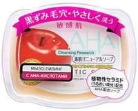 """B&C Laboratories """"AHA Sensitive"""" Мыло-пилинг для лица c фруктовыми кислотами, сужающее поры, для сухой и чувствительной кожи, 100 г."""