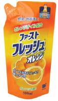 DAIICHI «Funs» Жидкость для мытья посуды, овощей и фруктов «Свежий апельсин», запасной блок, 500 мл.