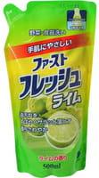 DAIICHI «Funs» Жидкость для мытья посуды, овощей и фруктов «Свежий лайм», запасной блок, 500 мл.