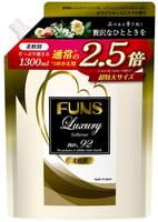 DAIICHI «Funs» Кондиционер для белья парфюмированный, с ароматом белой мускусной розы, мягкая упаковка, 1300 мл.