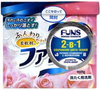 """Daiichi """"Funs"""" Стиральный порошок концентрированный 2-в-1 с кондиционирующим эффектом, 900 г."""