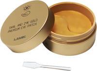 L.SANIC «Snail Аnd 24K Gold Premium Eye Patch» Гидрогелевые патчи для области вокруг глаз, с муцином улитки и золотом, 60 шт.