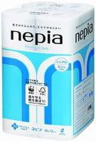 NEPIA «Premium Soft» Однослойная туалетная бумага, с ароматом свежести, 60 м, 12 рулонов.