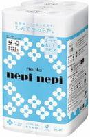 NEPIA «Nepi nepi» Однослойная туалетная бумага, 50 м, 12 рулонов.