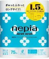 NEPIA «nepi nepi» Однослойная туалетная бумага, 75 м, 8 рулонов.