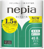 NEPIA «Long Roll» Двухслойная туалетная бумага, 45 м, 8 рулонов.