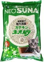 KOHCHO «Neo Loo Life» Комкующийся туалетный наполнитель для обеспечения гигиены животного, с экстрактом зелёного чая, 6 л.