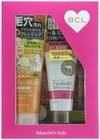 """B&C Laboratories """"Tsururi"""" Подарочный набор """"Очищение пор"""": очищающий поры крем-гель с термоэффектом, 150 г + крем-маска с глиной для Т-зоны, 55 г."""