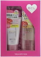 """B&C Laboratories """"Cleansing Research"""" Подарочный набор """"Двойное очищение"""": очищающее и увлажняющее масло для снятия макияжа, 145 мл + пена-скраб для лица, 120 г."""