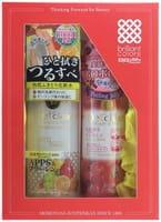 """Meishoku """"Detclear"""" Подарочный набор """"Очищение и увлажнение"""": пилинг-гель с эффектом сильного скатывания (с ароматом ягод), 180 мл + лосьон """"Очищение и увлажнение"""", 180 мл."""