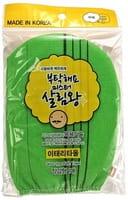 INSAN «Glove type Bath Towe» Мочалка для тела в виде рукавички, жёсткая, зелёная.