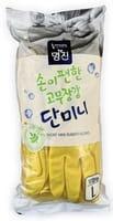 "MyungJin ""Rubber Glove Mymy Mini"" Перчатки латексные хозяйственные, размер L, 10 пар."