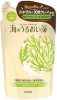 KRACIE «Umi No Uruoiso» Шампунь для ухода за кожей головы, с экстрактами морских водорослей, сменная упаковка, 420 мл.