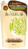 """Kracie """"Umi No Uruoiso"""" Бальзам-ополаскиватель для ухода за кожей головы, с экстрактами морских водорослей, сменная упаковка, 420 мл."""